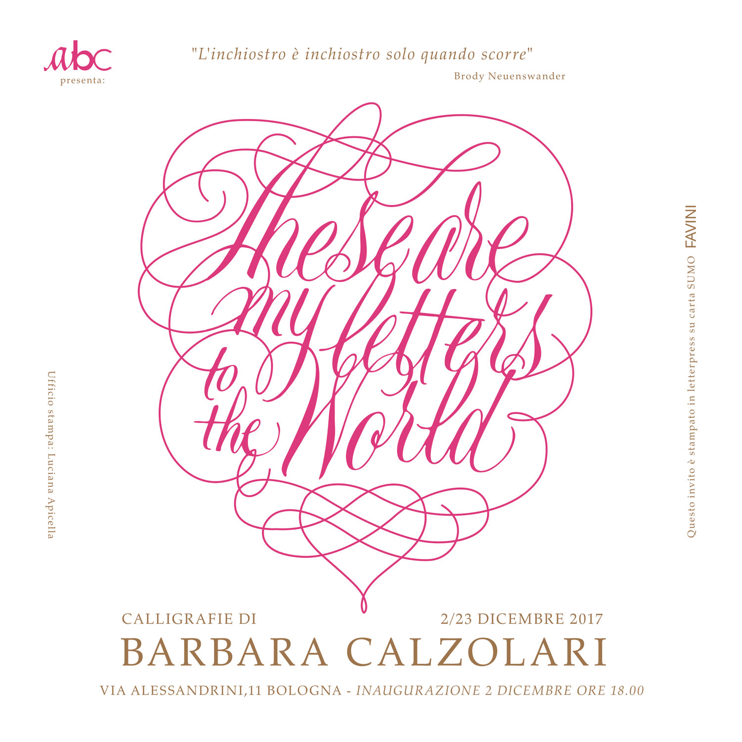 barbara calzolari these are my letters 1