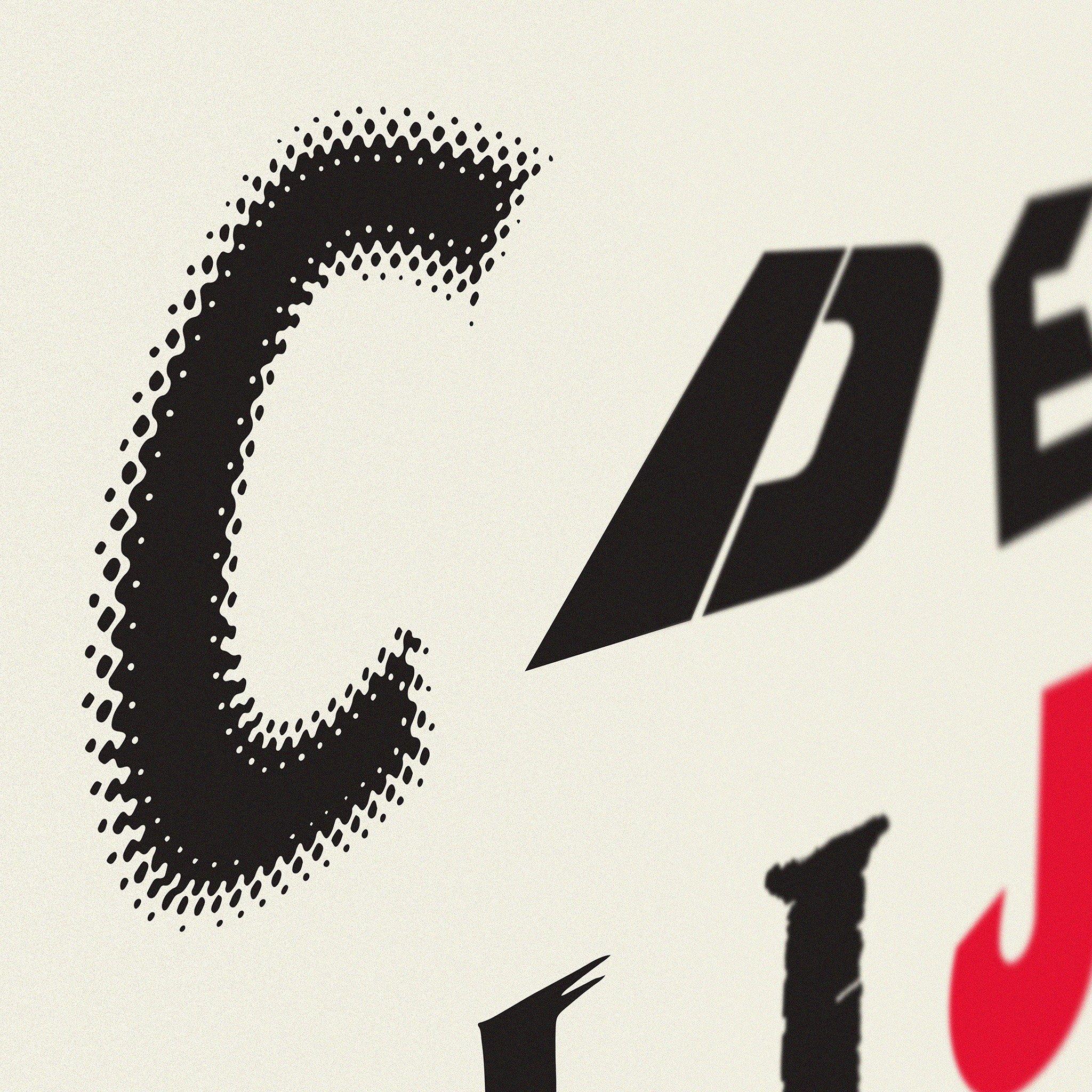 alphabet of horror films art print dorothy carrie