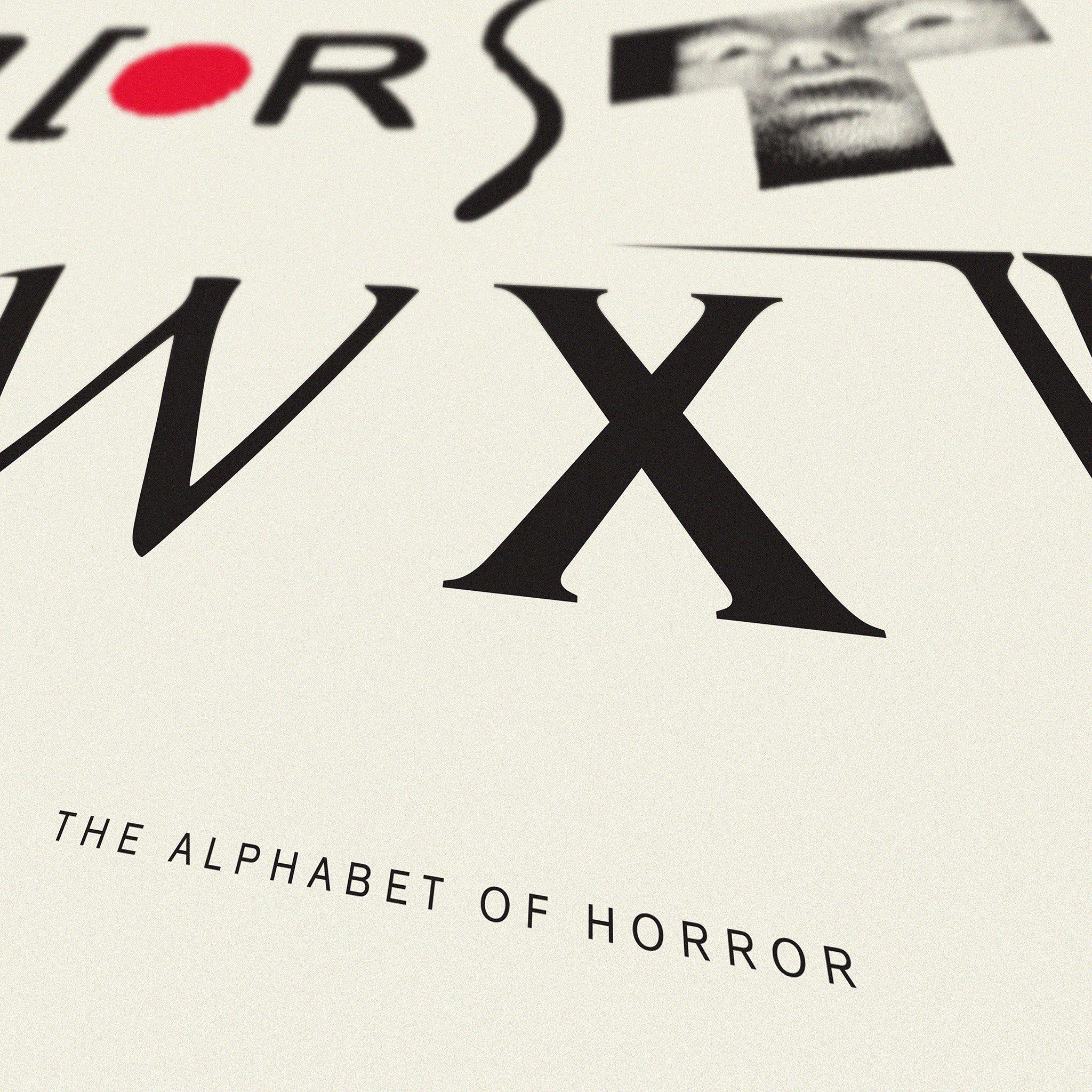 alphabet of horror films art print dorothy the