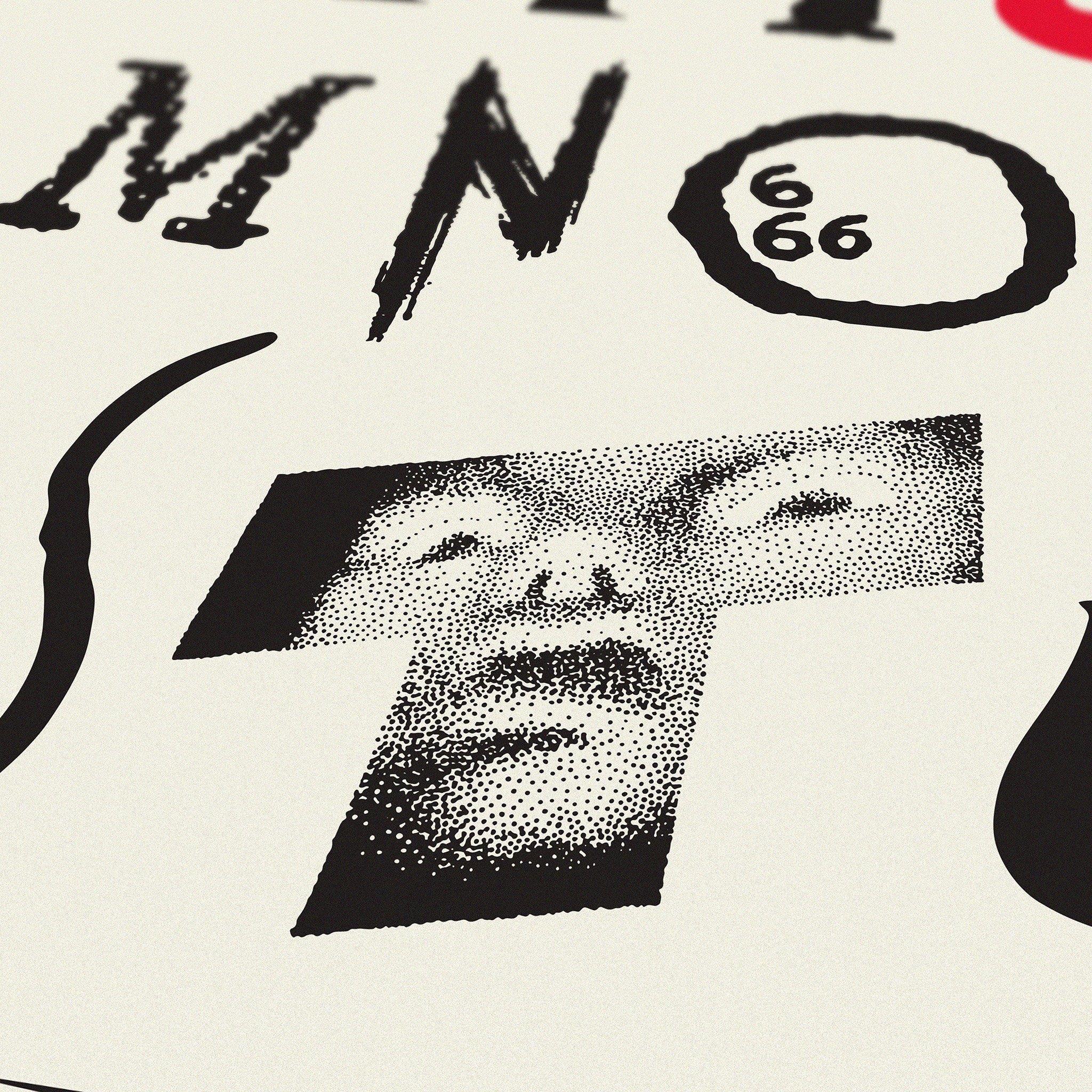 alphabet of horror films art print dorothy the shining