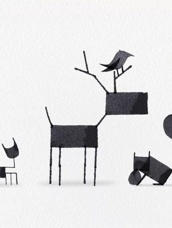 Calligraphy Animals Animated