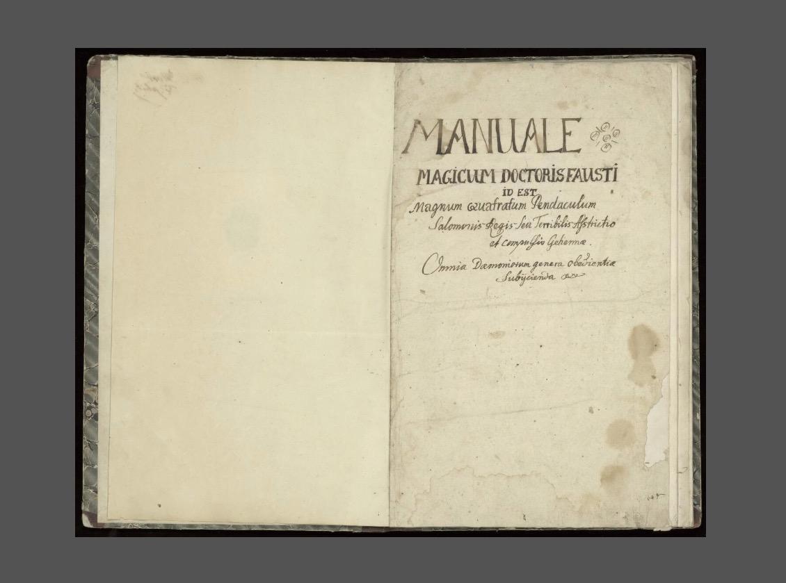 manuale magicum doctoris fausti 1