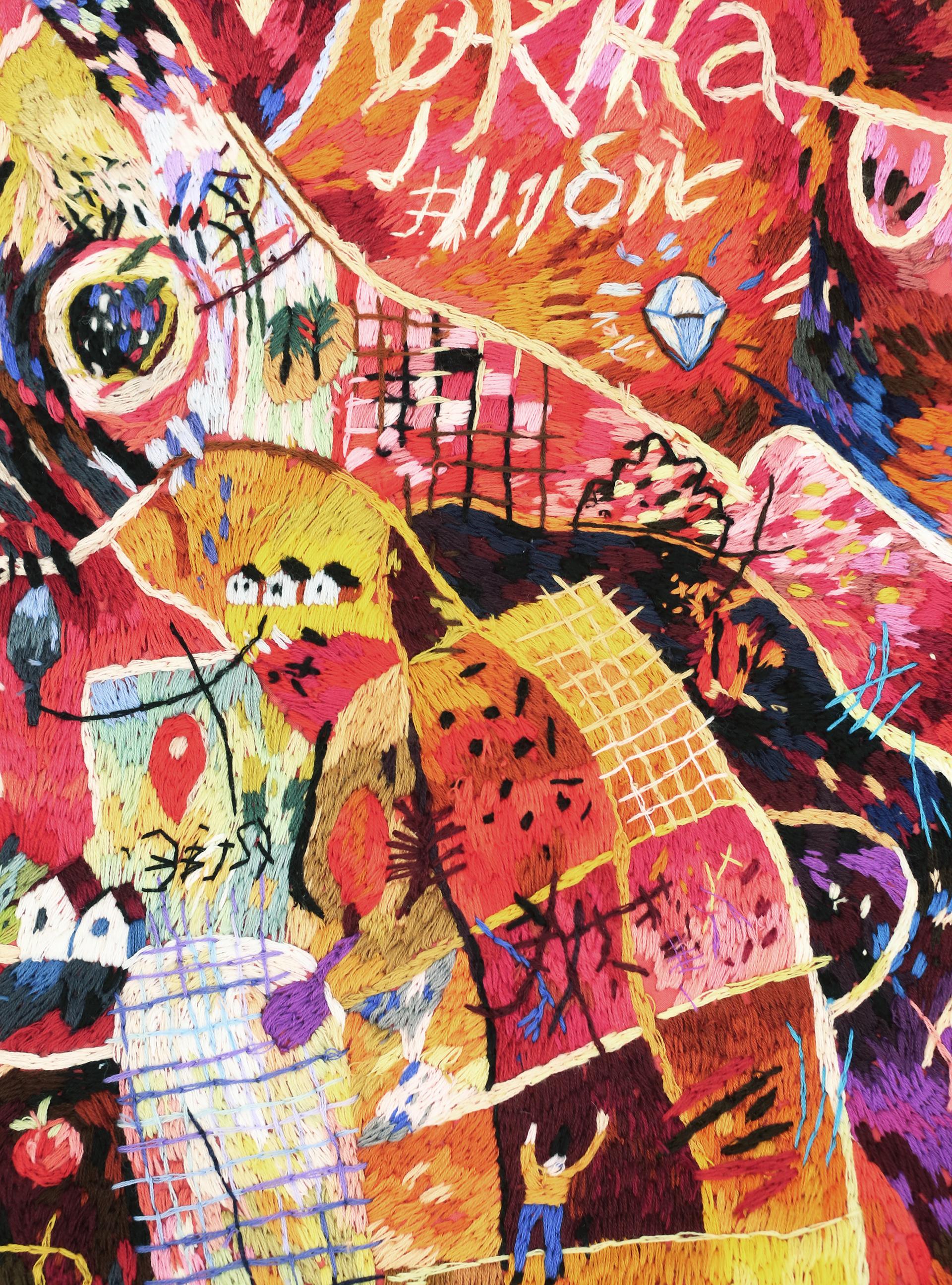 Embroidered Maps Lisa Smirnova 4