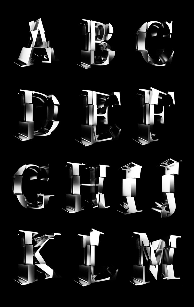 cubist typography 1