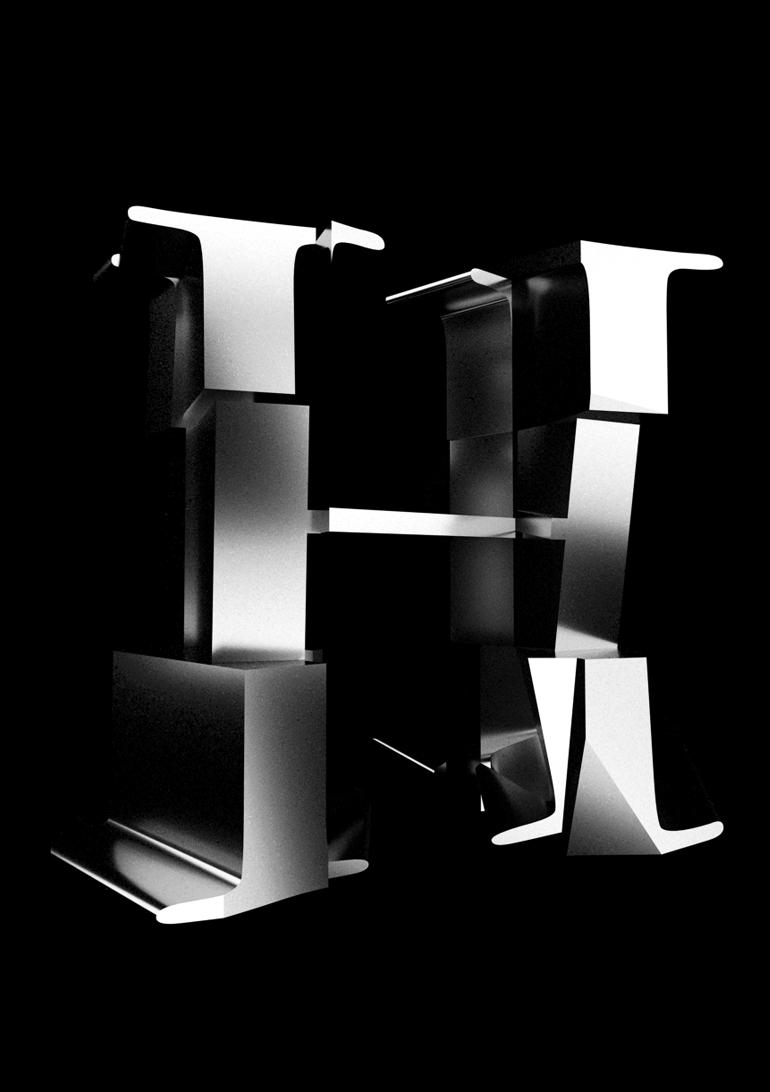 cubist typography 3