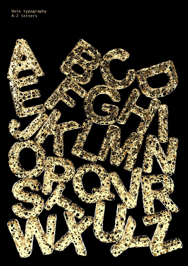 hole typography 1
