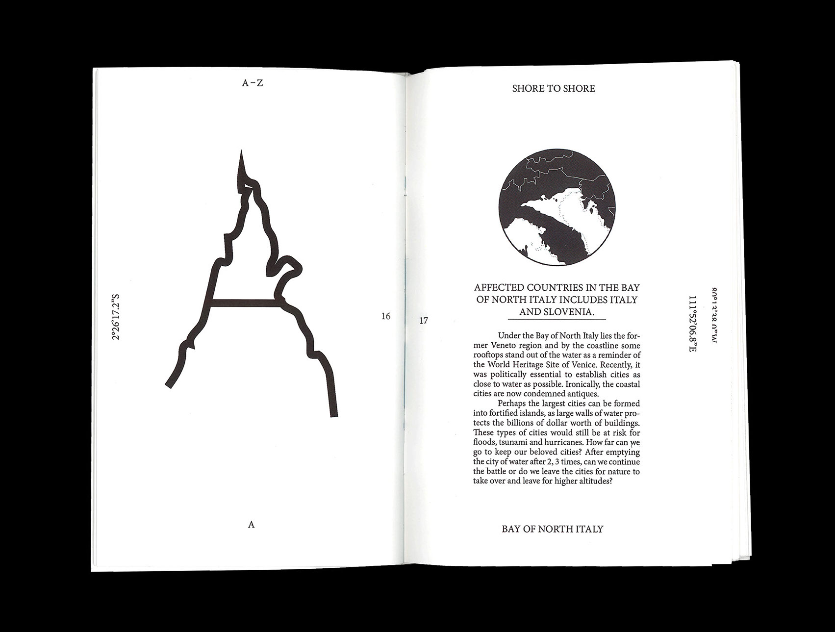 Un carattere tipografico ispirato all'innalzamento delle acque