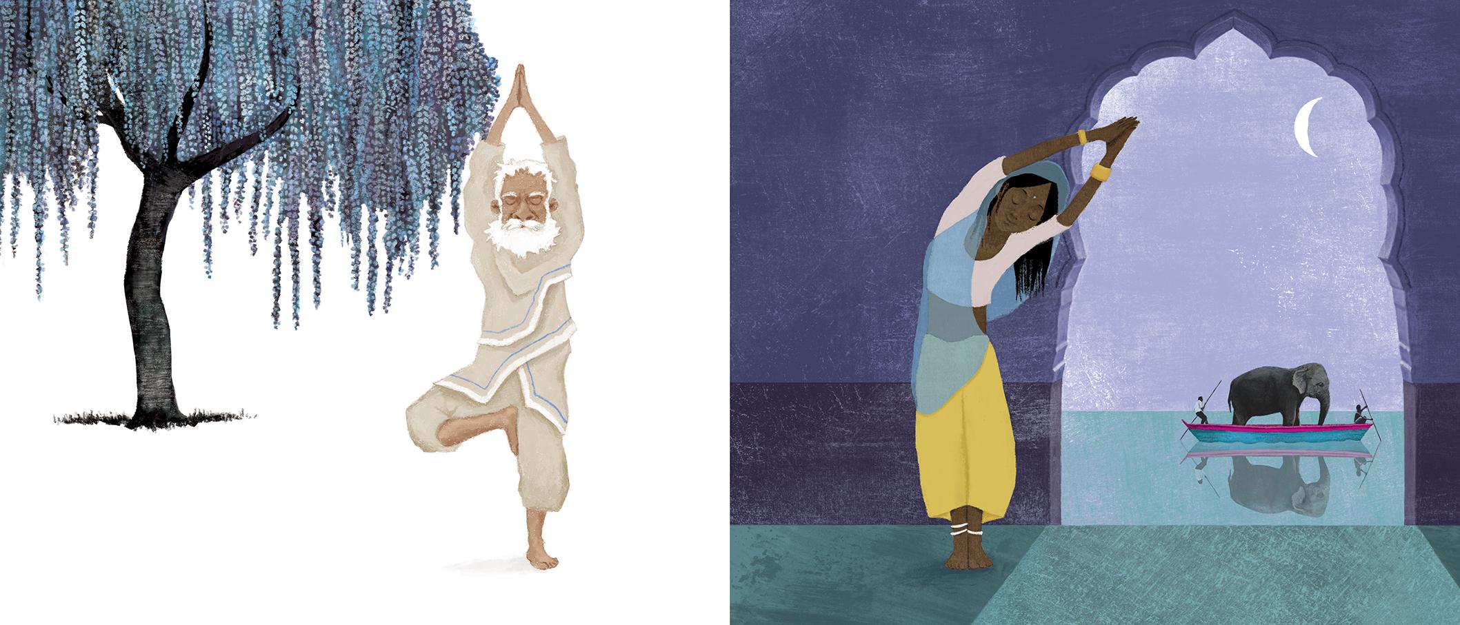 Un libro illustrato spiega lo yoga ai bambini