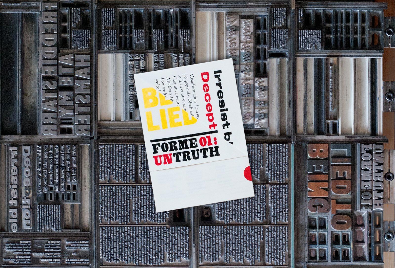 Forme: un nuovo poster magazine stampato in letterpress