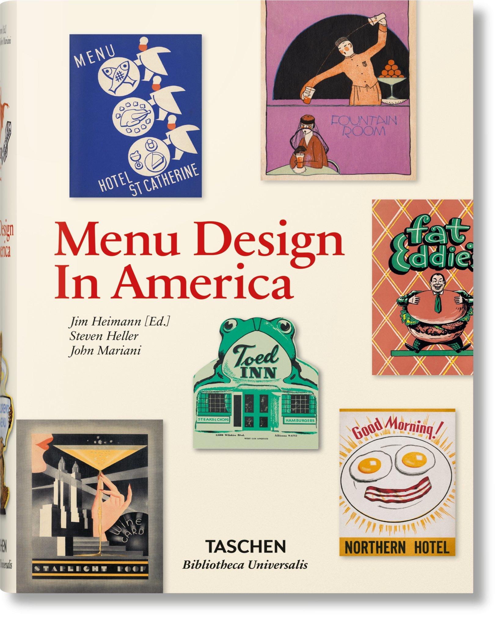 La grafica dei menu americani