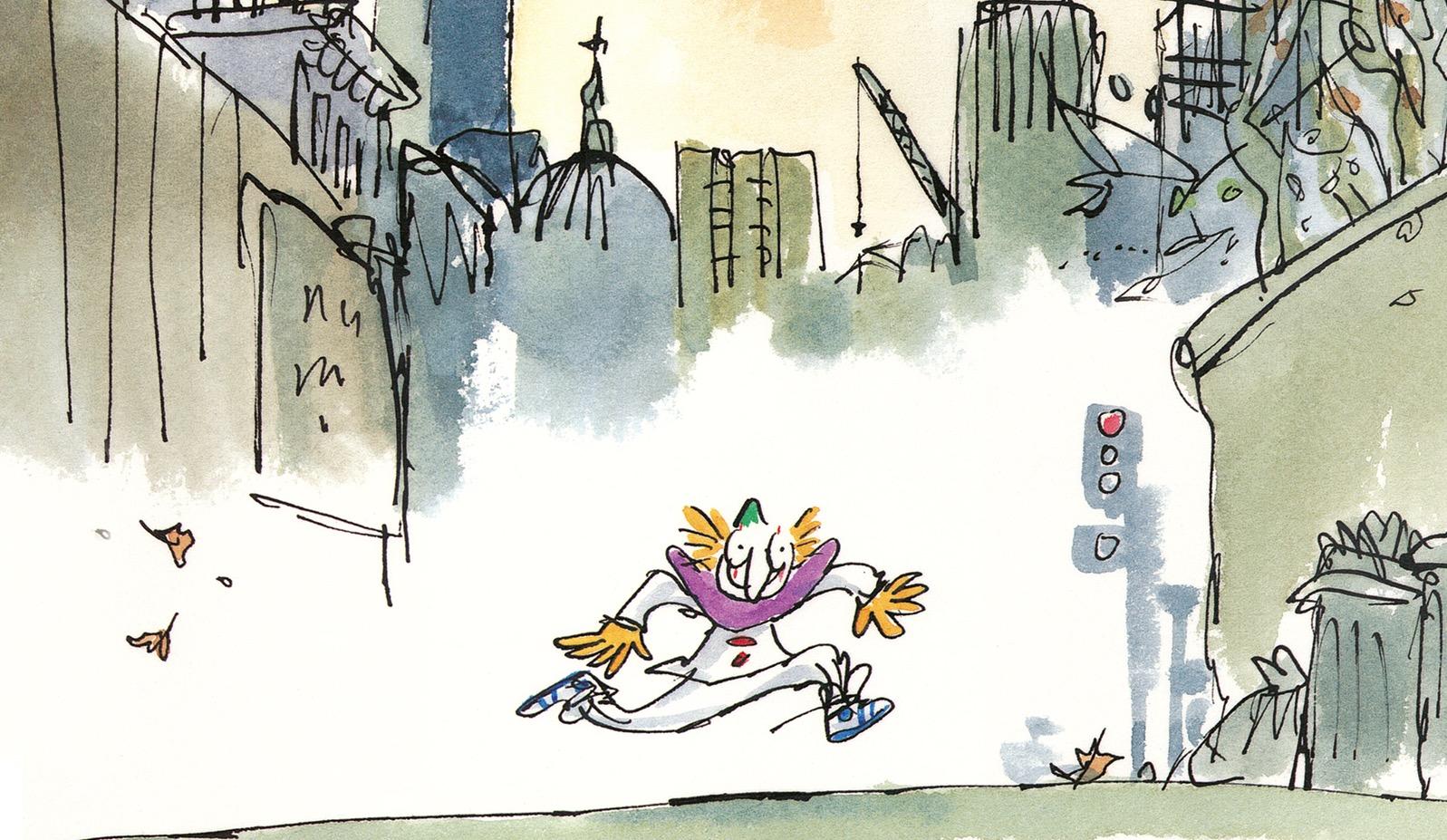 Clown: arriva per la prima volta in Italia il silent book di Quentin Blake