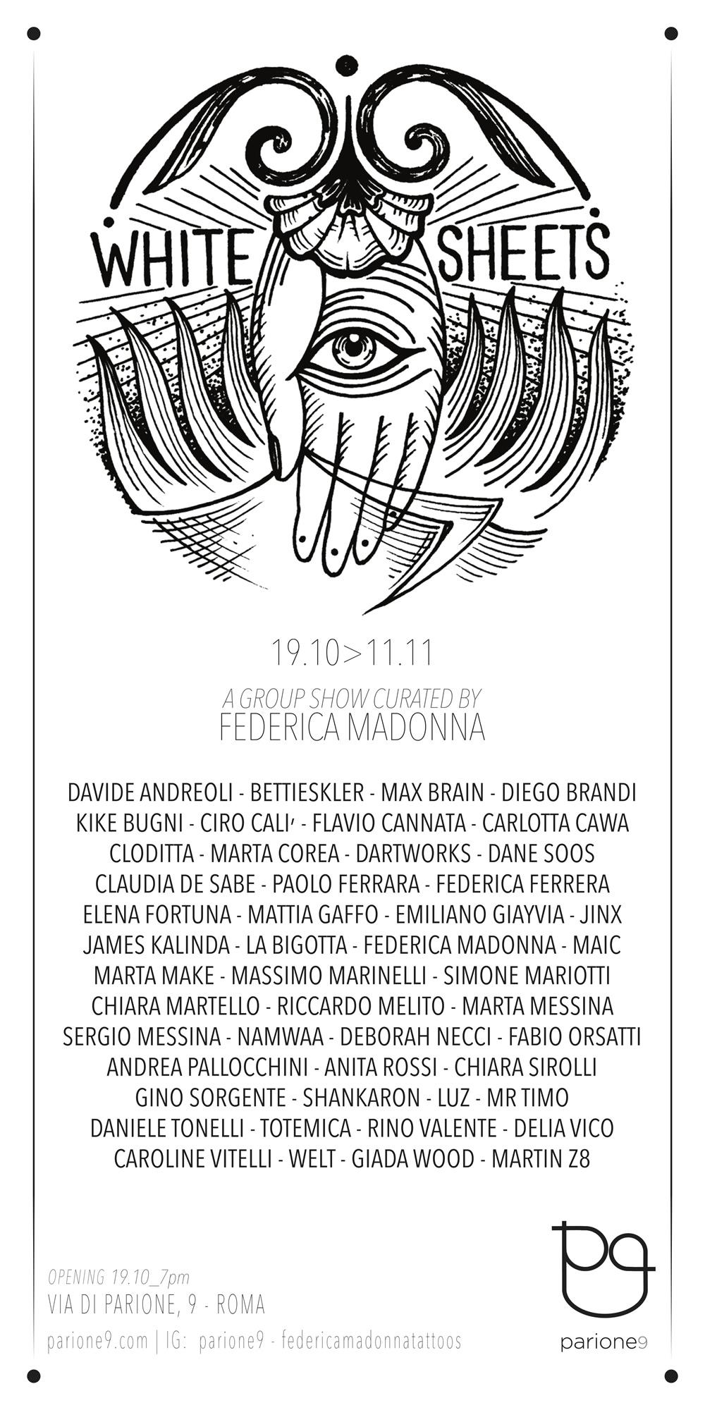 Save the date | White Sheets: 47 tatuatori in mostra a Roma