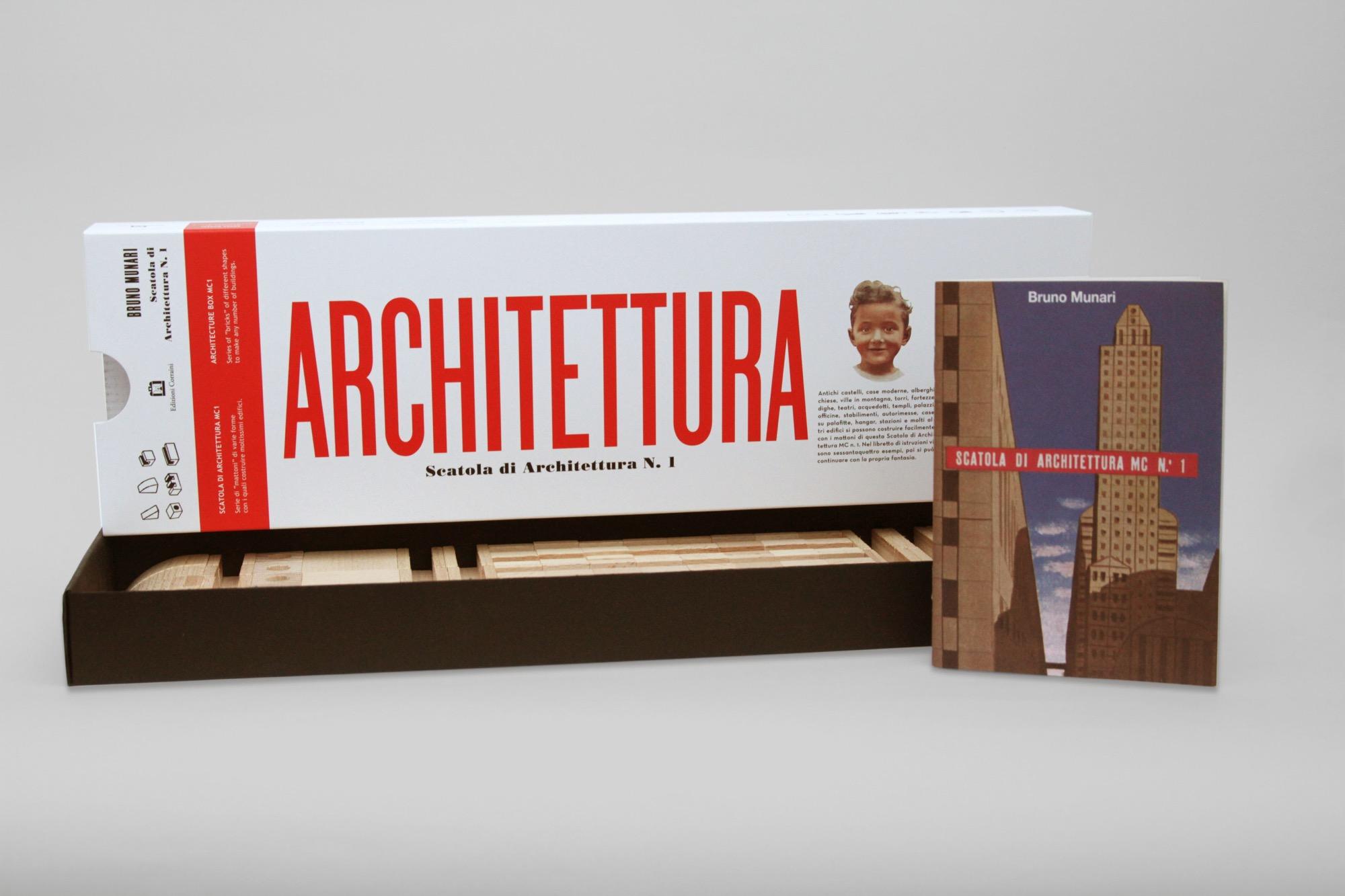 La nuova edizione della Scatola di Architettura MC n°1 di Bruno Munari