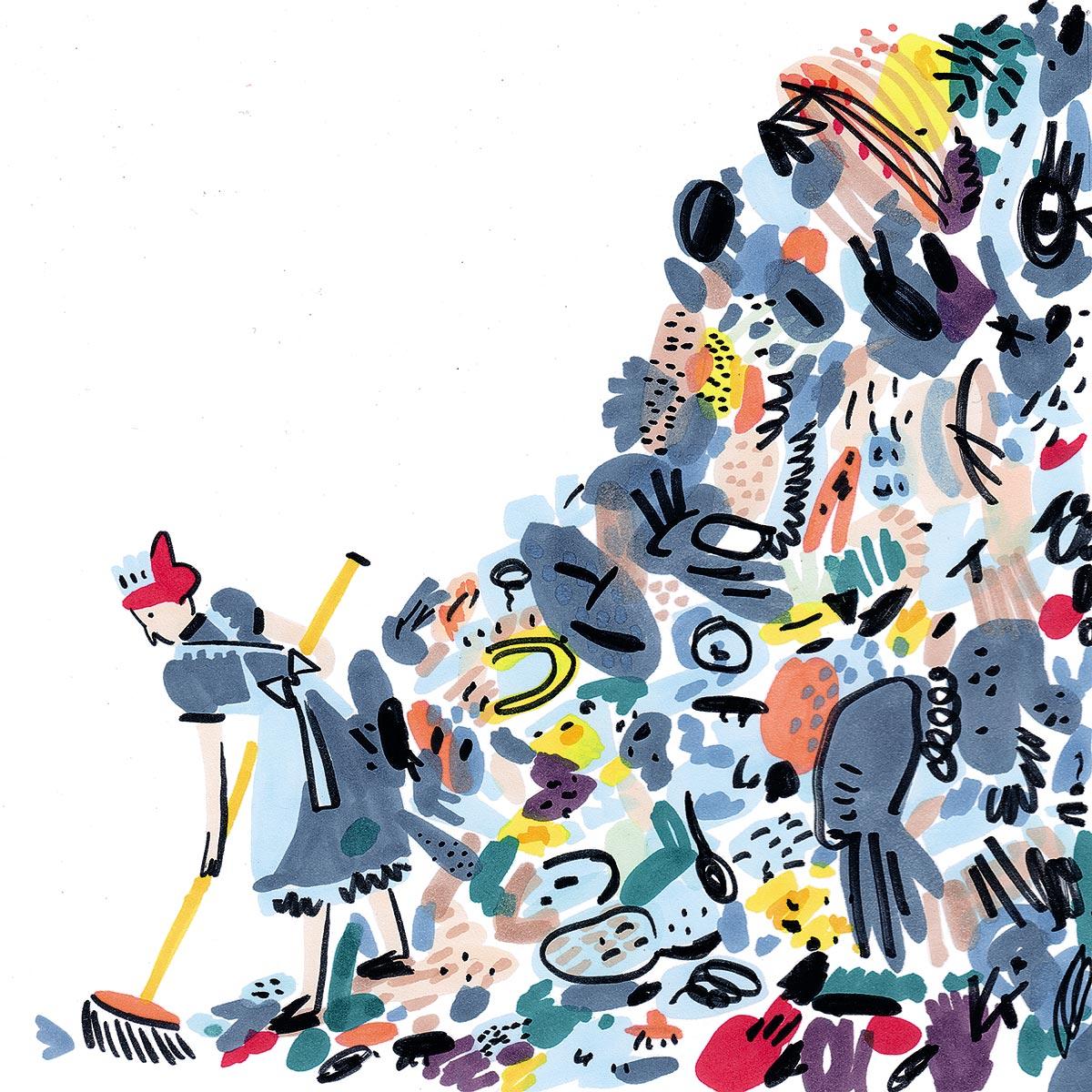 Com'è fatto il caos? Te lo mostrano gli illustratori selezionati da Tapirulan