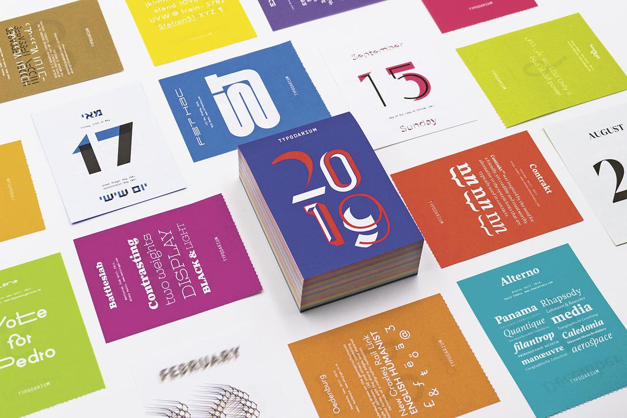 Un carattere tipografico al giorno: ecco il Typodarium 2019