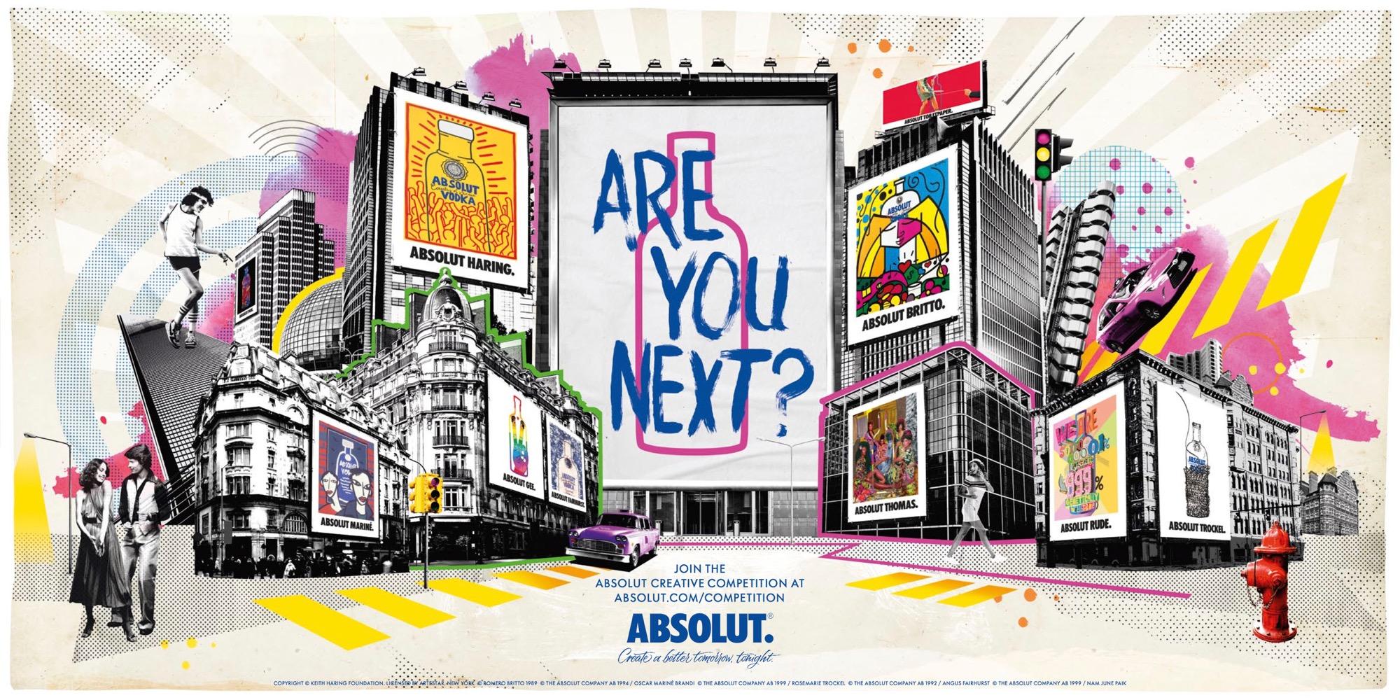C'è tempo fino al 31 gennaio per partecipare alla Absolut Creative Competition