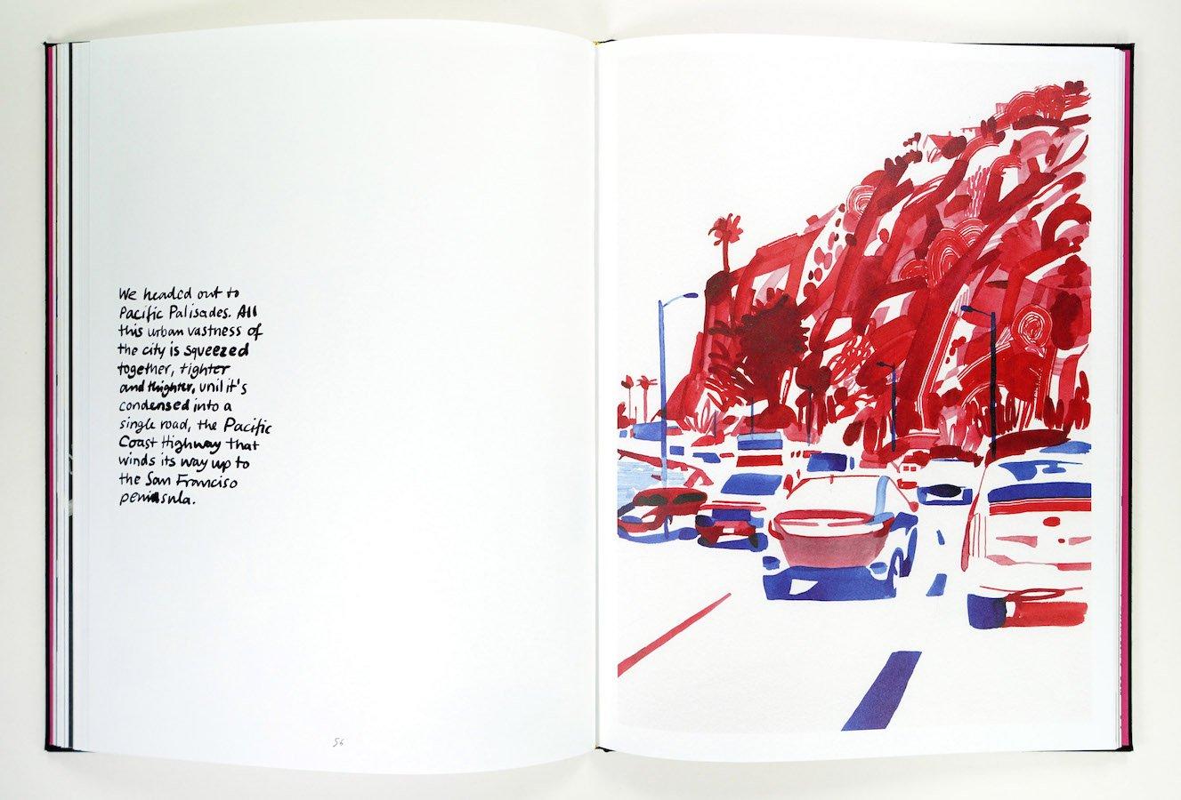 Il diario di viaggio di Christoph Niemann, a Los Angeles alla ricerca di David Hockney