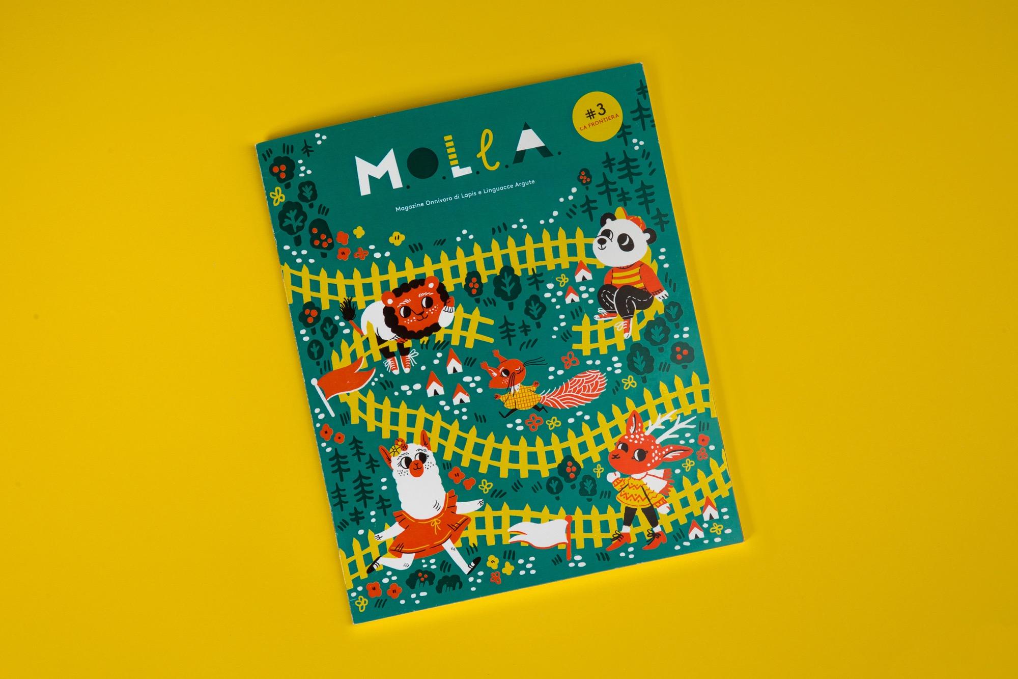 Il terzo numero di M.O.L.L.A., il magazine per bambini molleggiati, è dedicato alle frontiere