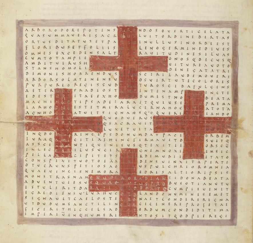 Tesori d'archivio: i pattern dei calligrammi sacri di Rabanus Maurus