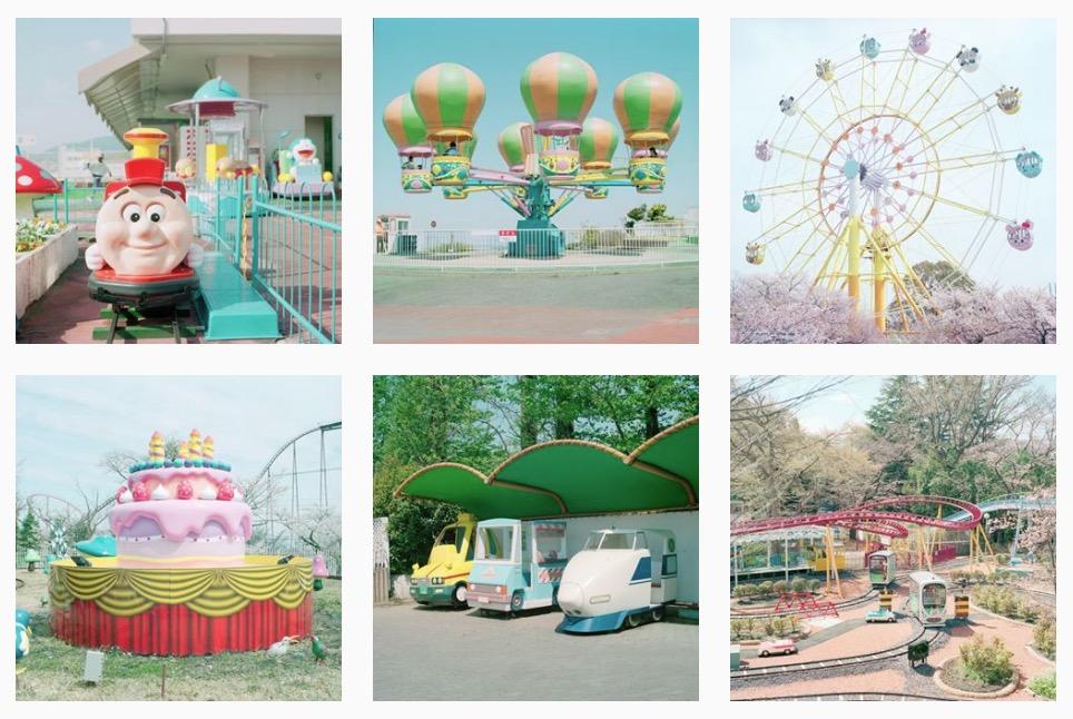 Un fotografo sta girando per i parchi dei divertimenti di tutto il mondo