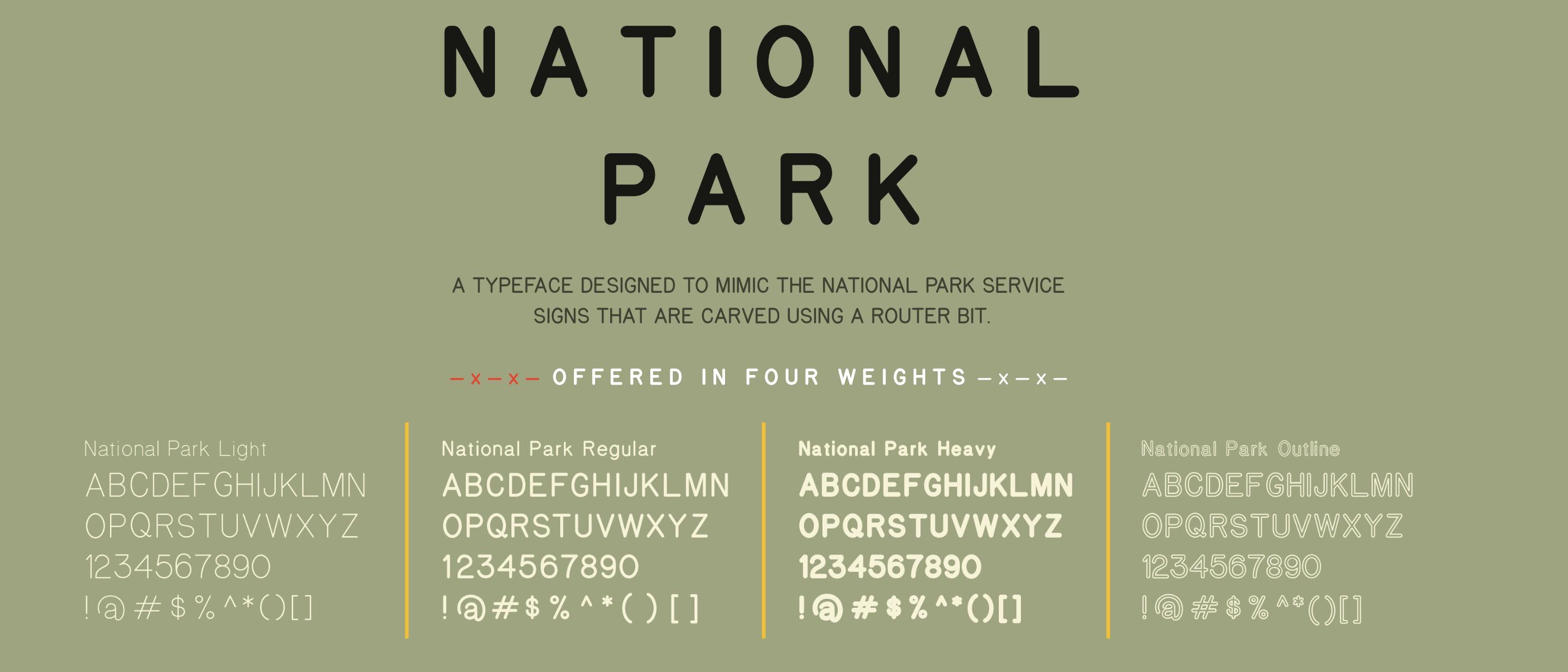 national park font 1