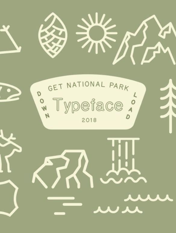 national park font 8