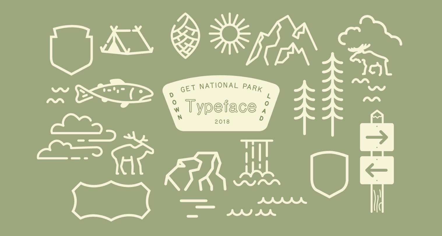 Il carattere tipografico dei parchi nazionali americani, da scaricare gratis