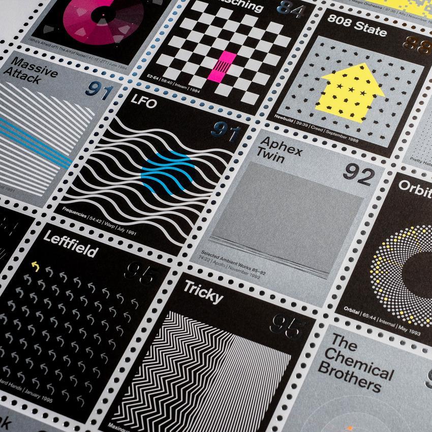 Se le copertine dei dischi di musica elettronica e psichedelica fossero francobolli