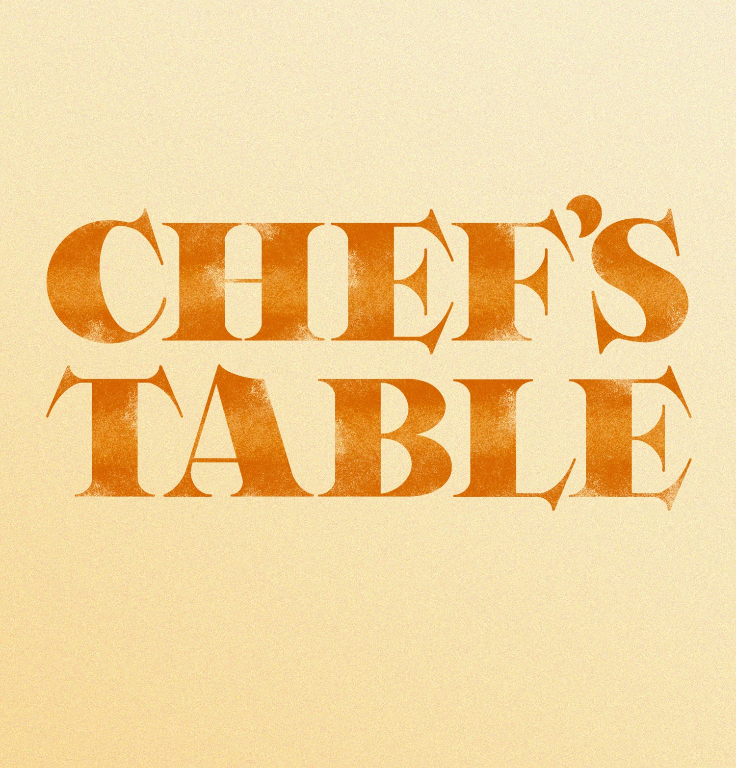 chefs table lettering