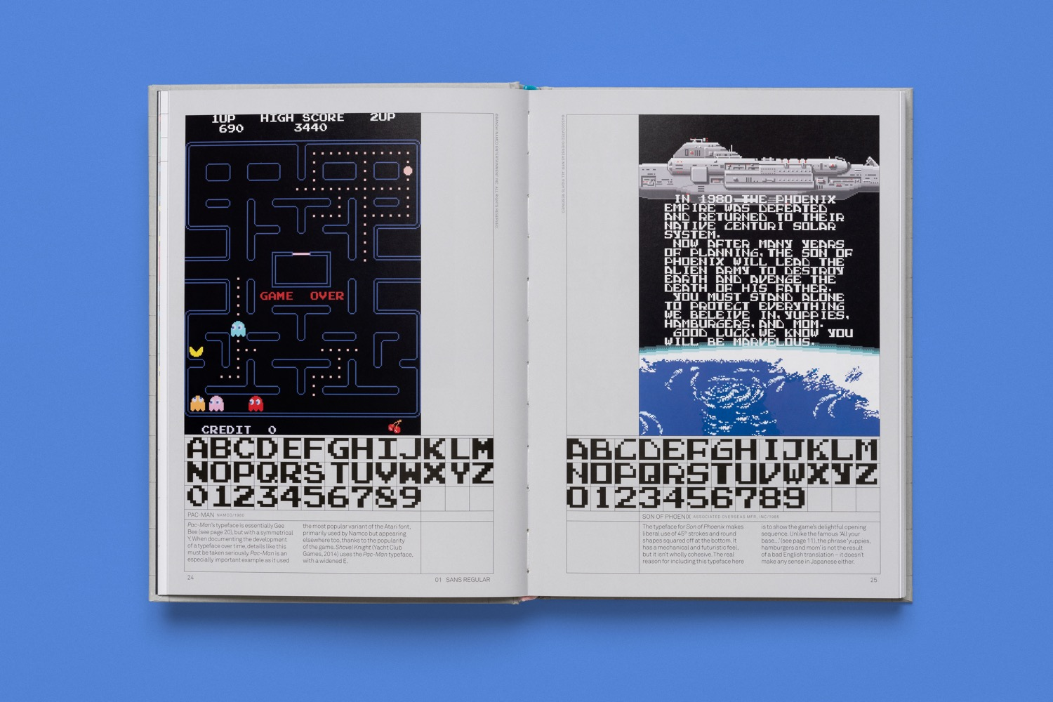 read only memory arcade game typography 2
