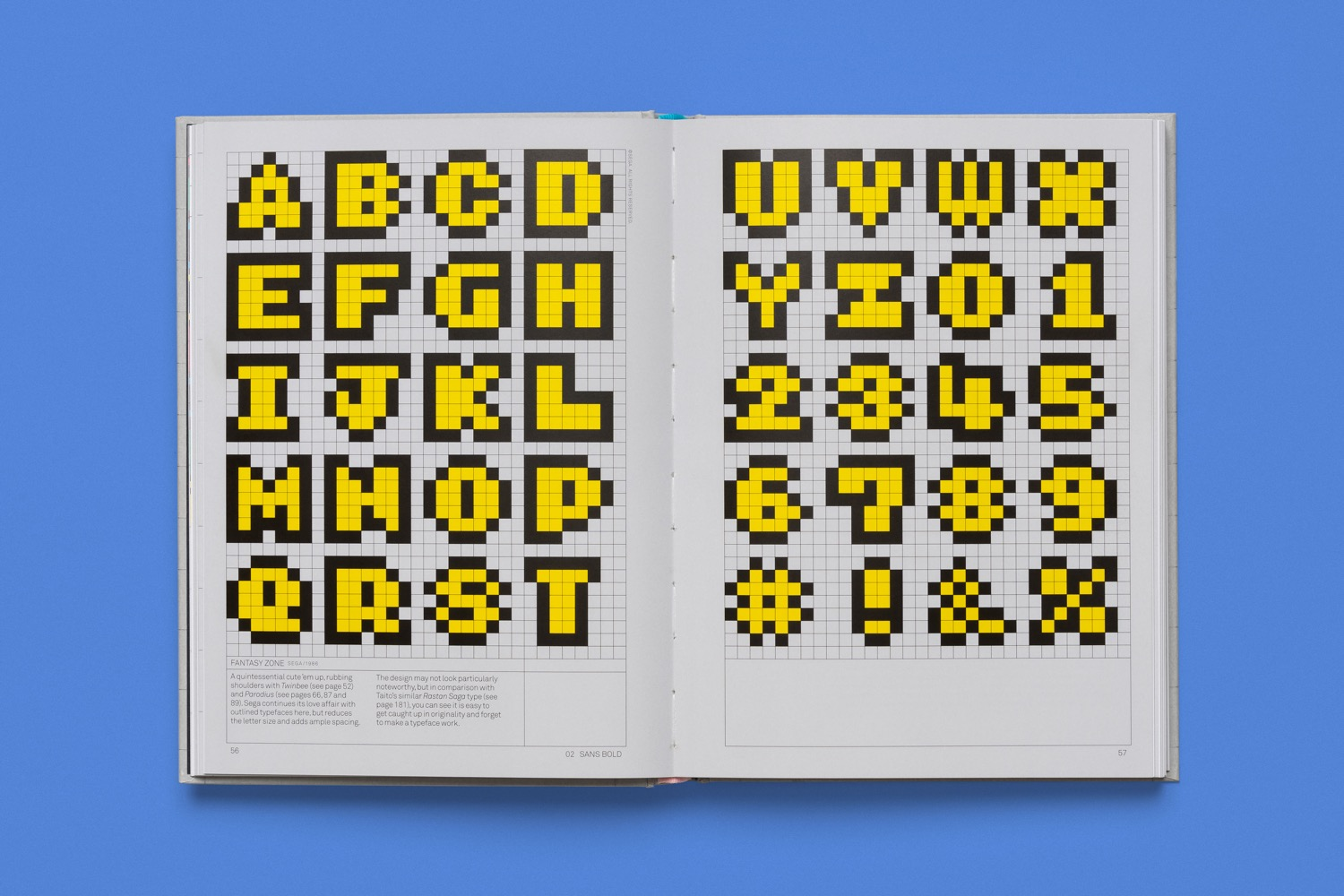 read only memory arcade game typography 3