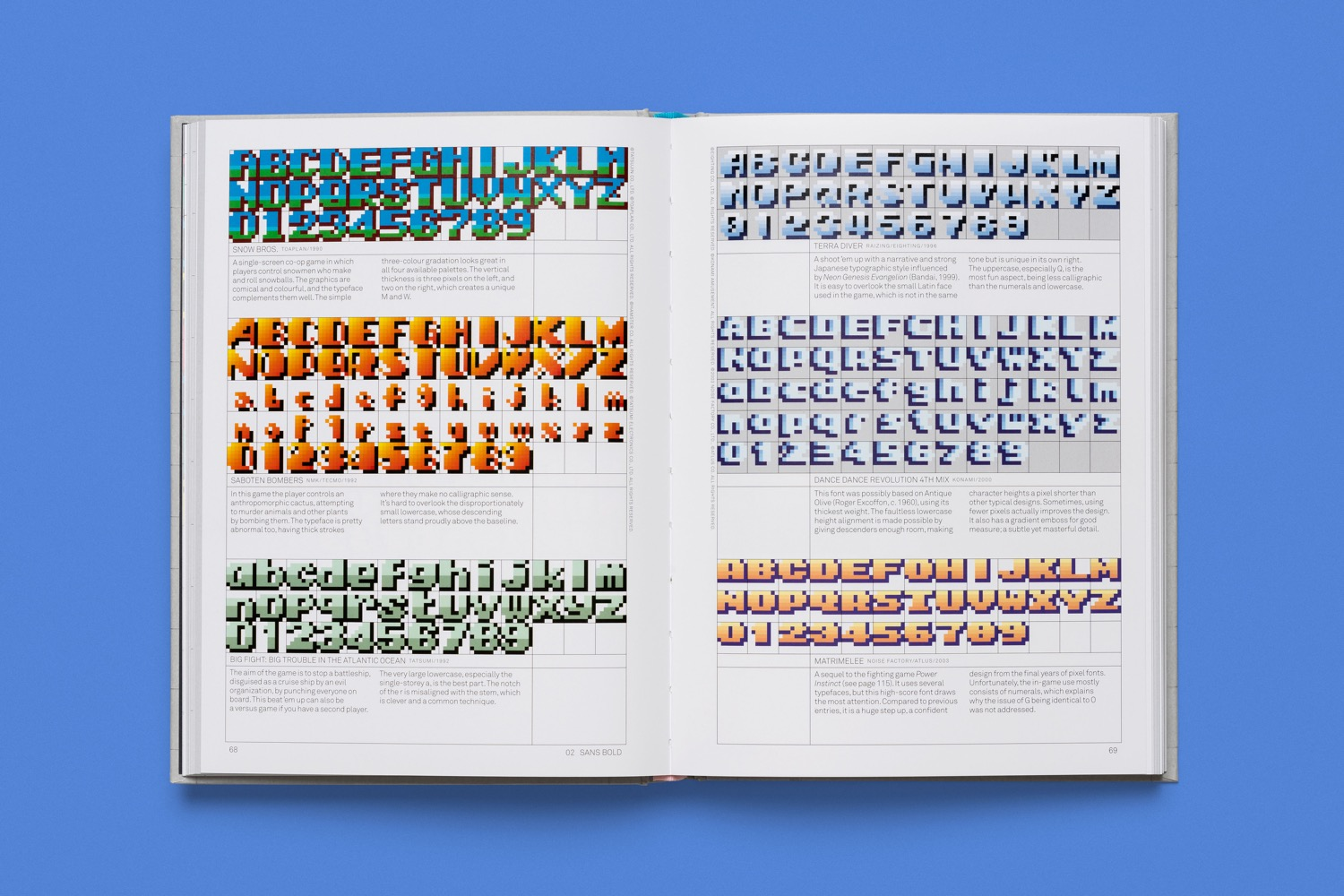 read only memory arcade game typography 4