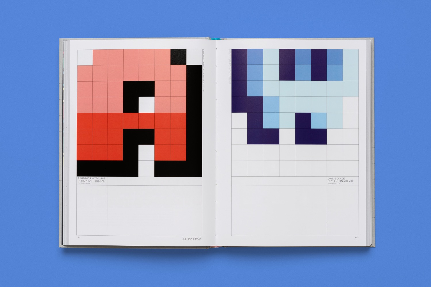 read only memory arcade game typography 5
