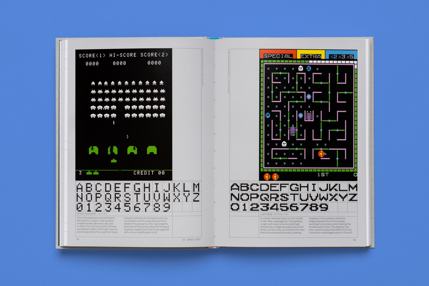 read only memory arcade game typography 6
