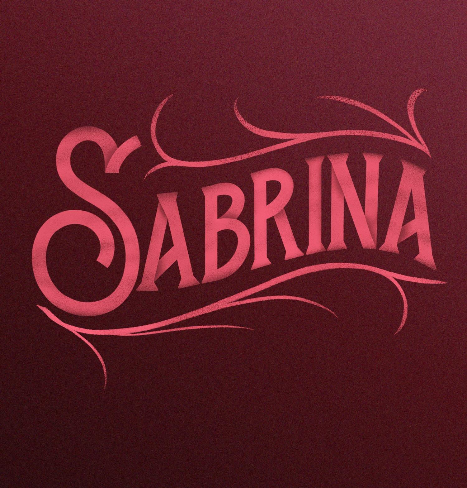 sabrina lettering