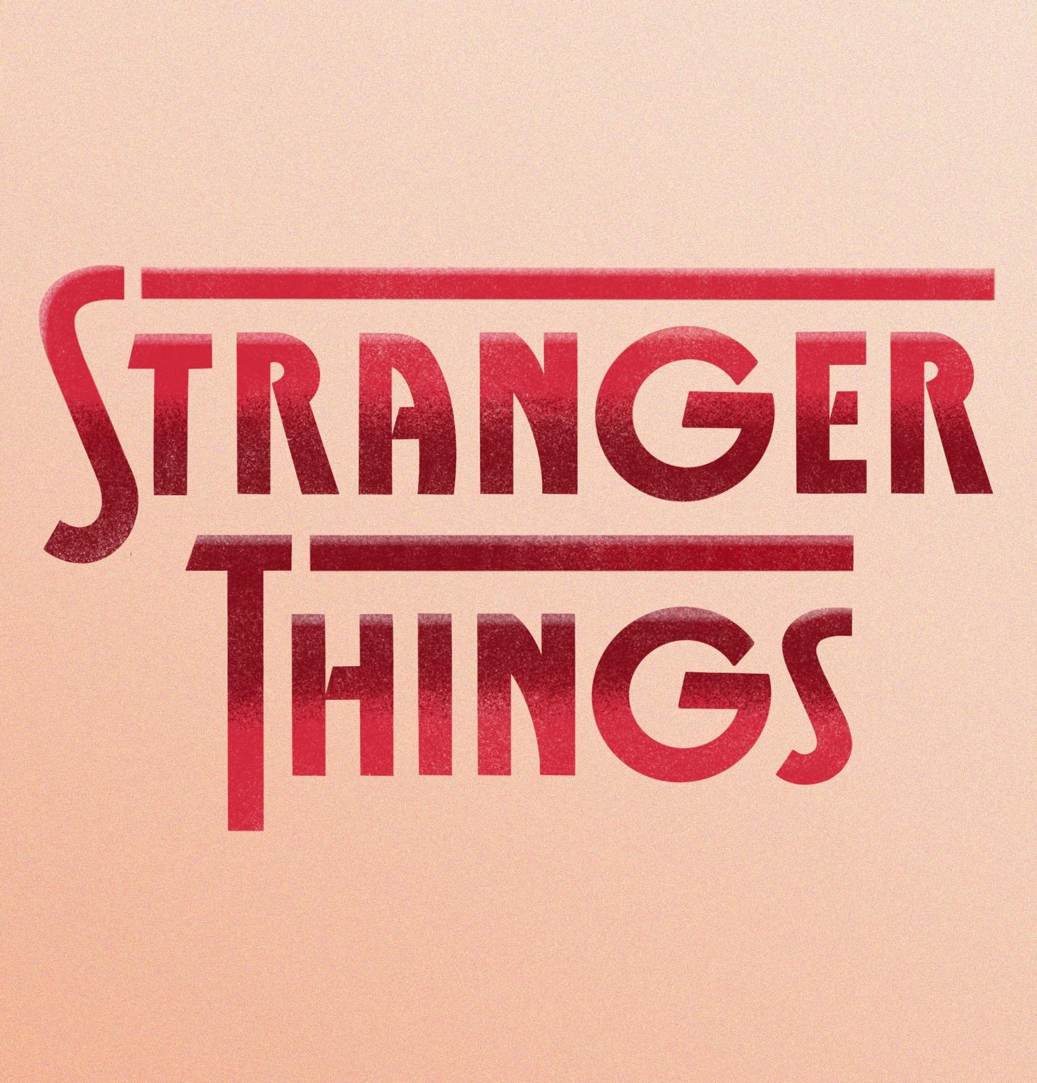 stranger things lettering