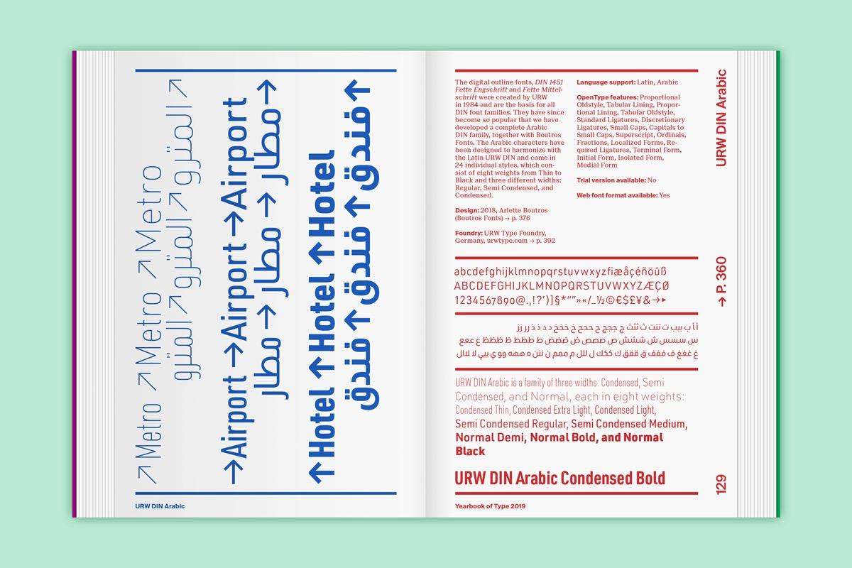yearbook of type slanted 14