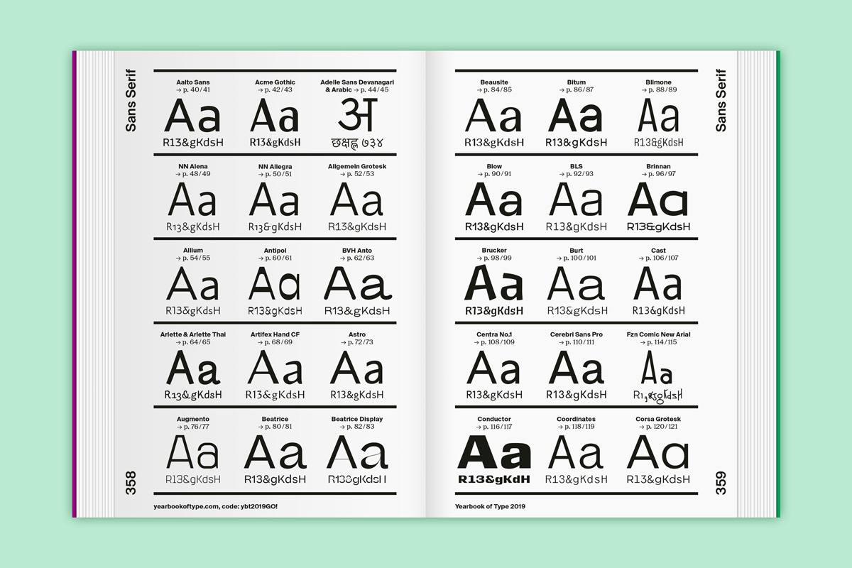yearbook of type slanted 17