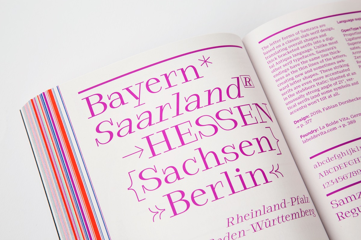 yearbook of type slanted 3