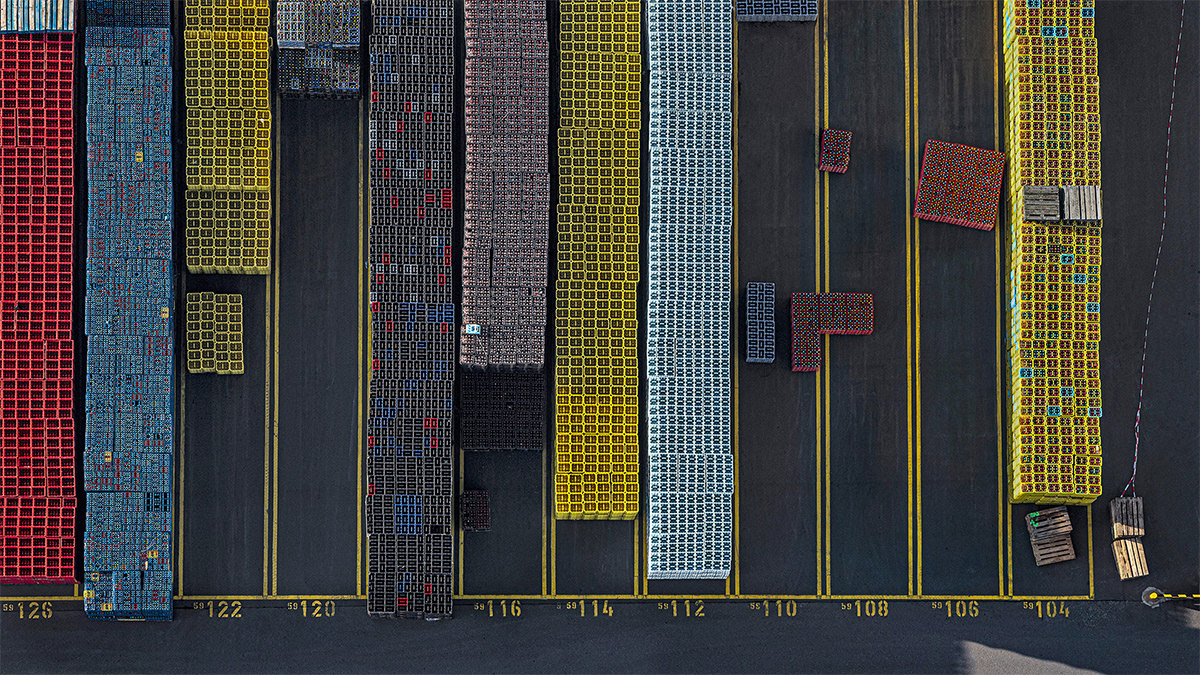 Bernhard Lang crate stacks 8