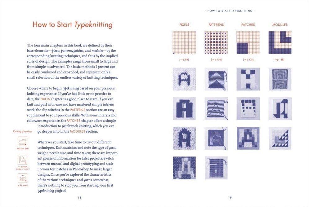 Typographic Knitting  From Pixel to Pattern 2b