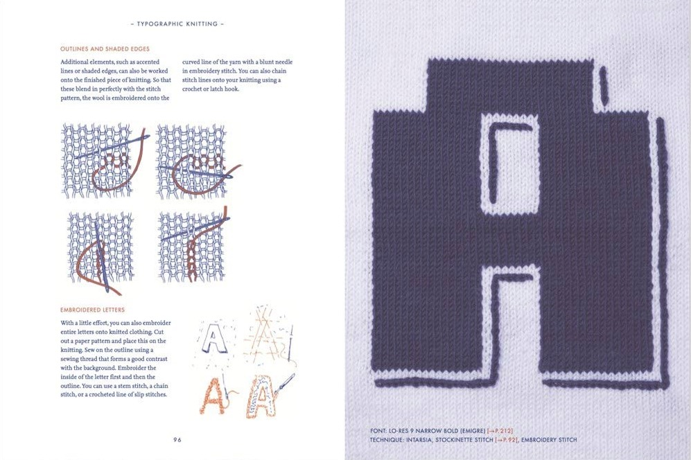 Typographic Knitting  From Pixel to Pattern 6b