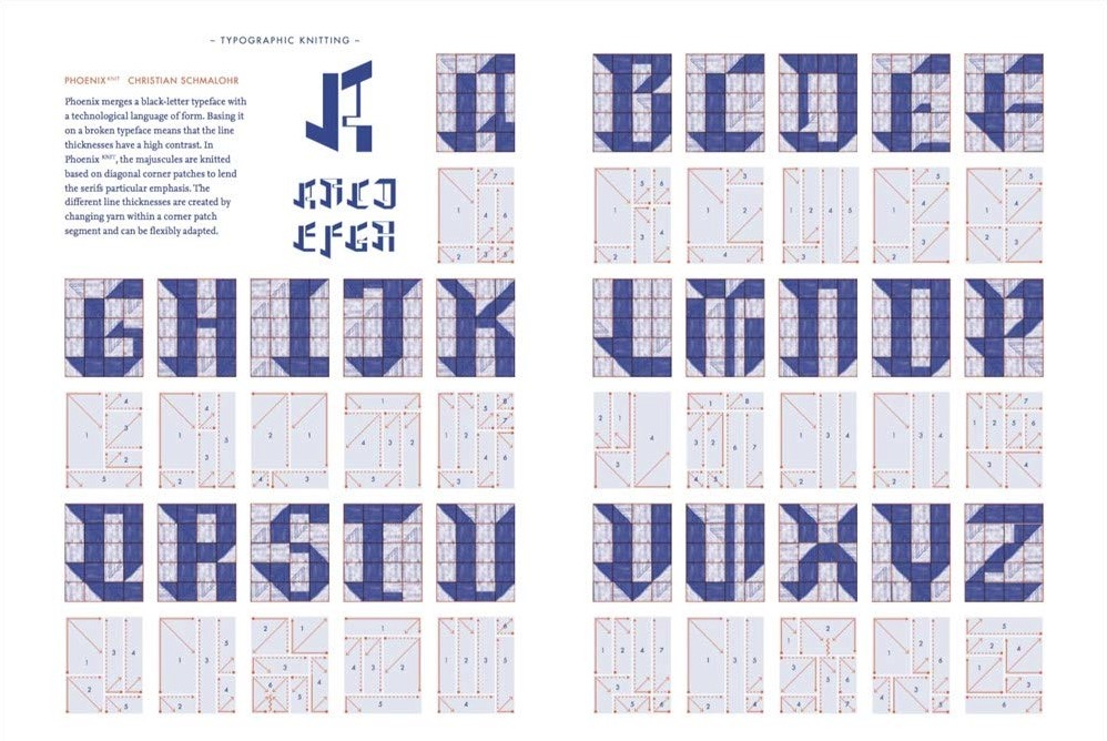 Typographic Knitting  From Pixel to Pattern 7b