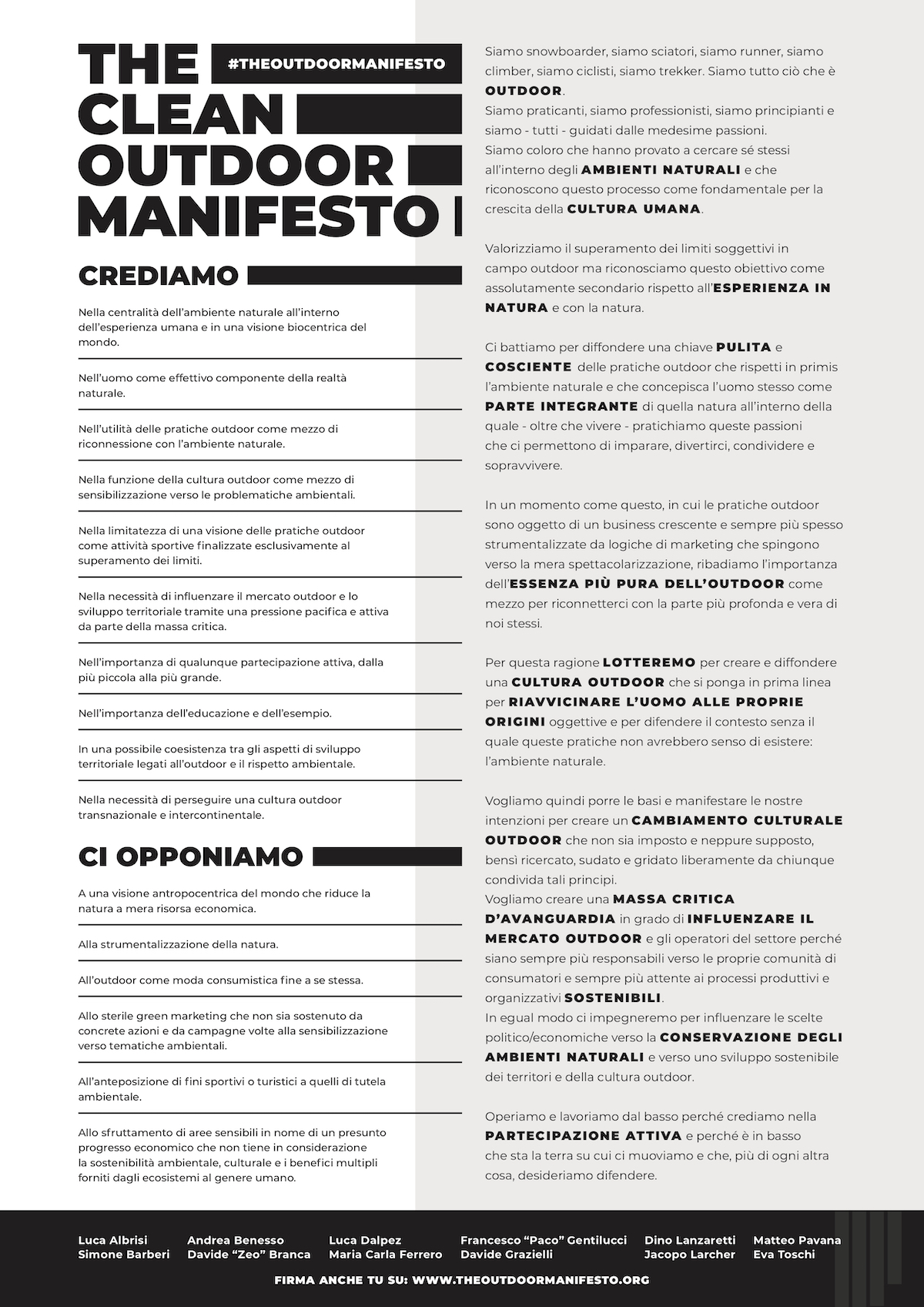 THE CLEAN OUTDOOR MANIFESTO 1