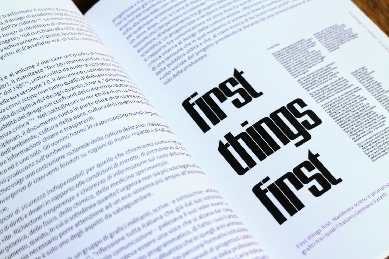 First Things First daniela piscitelli 6