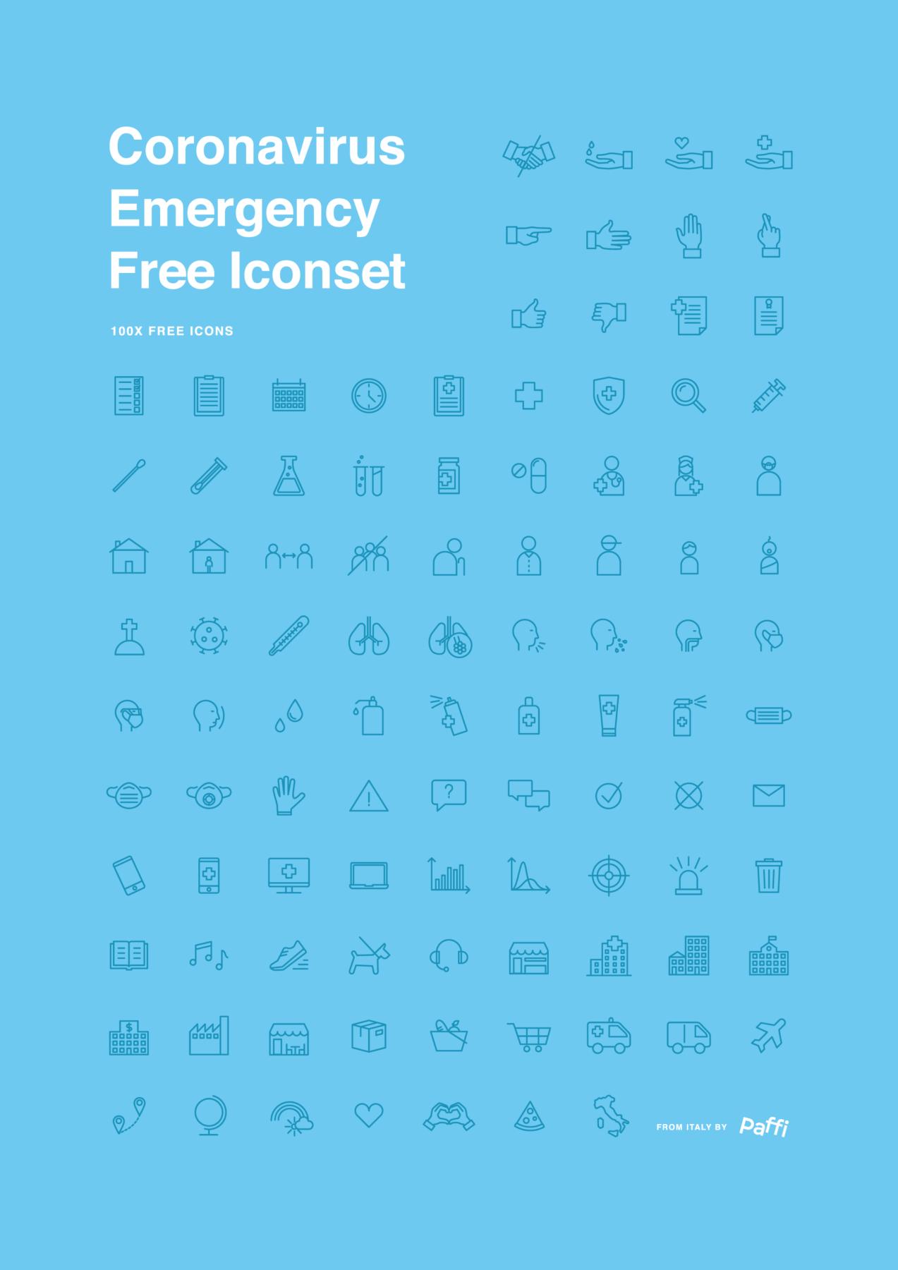 coronavirus emergency free icon set 0
