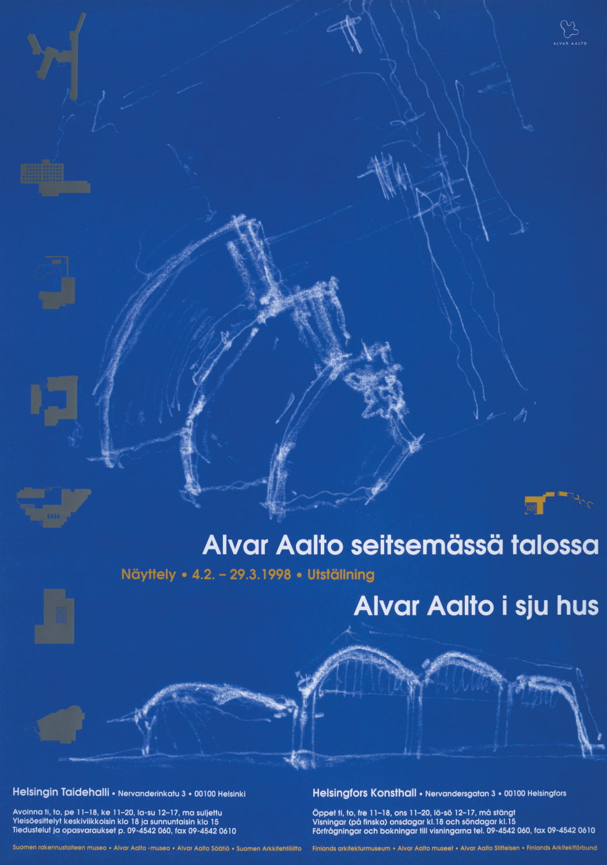 Poster Aalto 100 blue copyright Alvar Aalto Foundation
