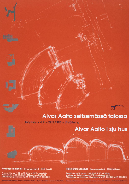 Poster Aalto 100 red copyright Alvar Aalto Foundation