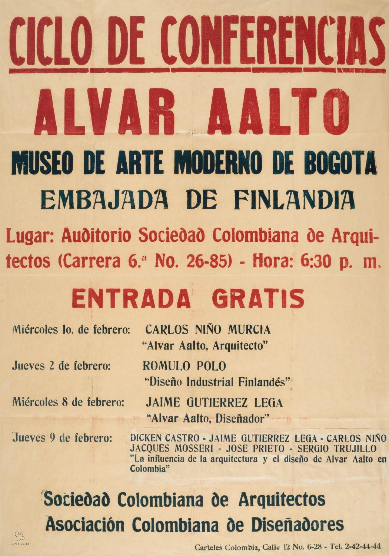 Poster Ciclo de conferencias copyright Alvar Aalto Foundation