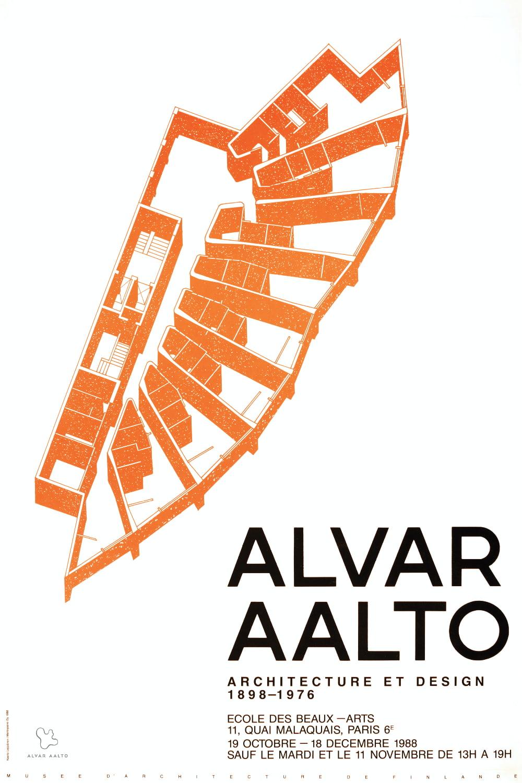 Poster Ecole des Beaux Arts color copyright Alvar Aalto Foundation